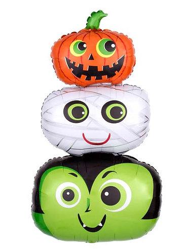 """36"""" Pumpkins Mummy Halloween Head Foil Balloon - hw12"""