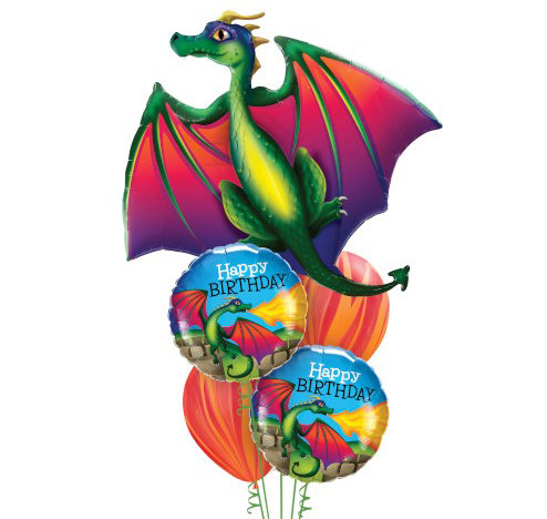 Mythical Dragon Helium Balloon Bouquet - bq66