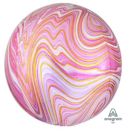 """16"""" Pink Marblez Balloon"""