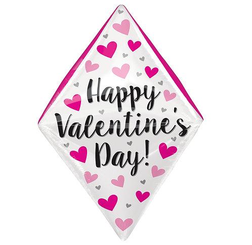 "25"" Happy Valentine's Day Gem Helium Balloon - lv19"