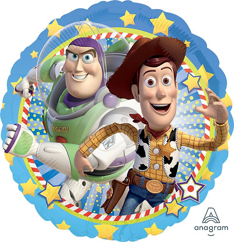 """18"""" Toy Story Woody & Buzz Star Pattern Helium Balloon - t08"""