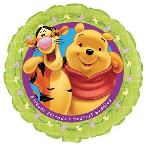 "18"" Winnie the Pooh & Tigger Helium Balloon - w08"