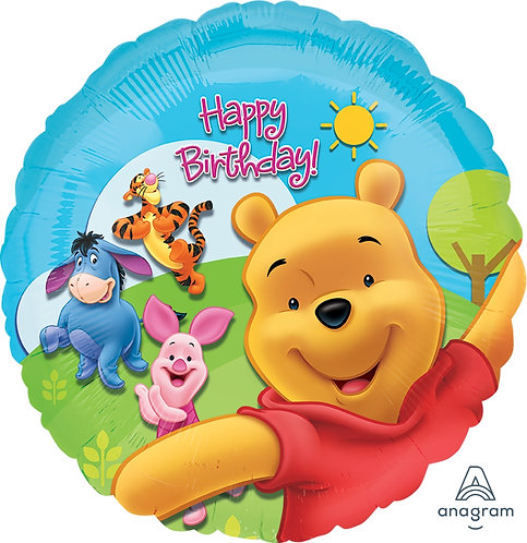 """18"""" Winnie the Pooh & Friends Playing Together Helium Balloon - w09"""