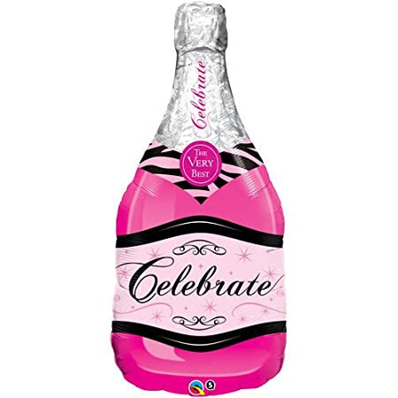 """39"""" Celebrate Pink Champagne Helium Balloon - y140"""