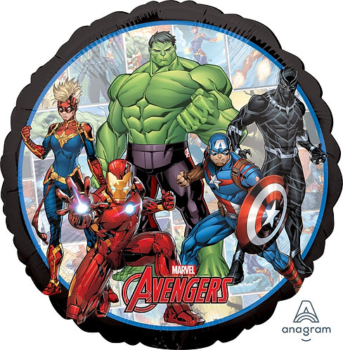 """18"""" Avengers Marvel Powers Unite Helium Balloon - s10"""