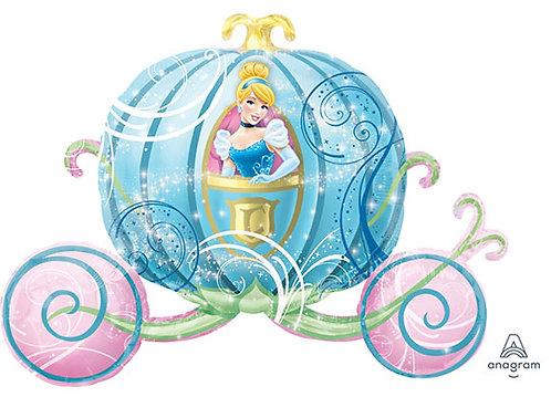 "33"" Princess Cinderella with Pumpkin Carriage Helium Balloon - ps11"