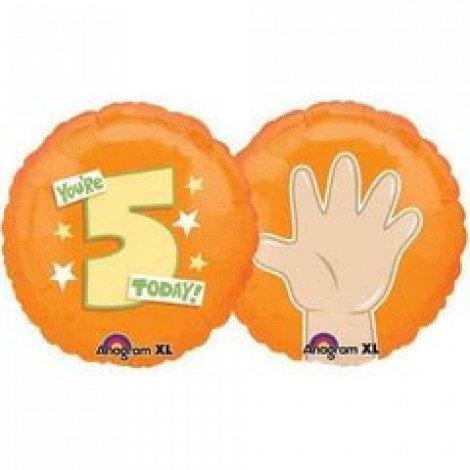 "18"" Finger 5 Number Helium Balloon - num05"