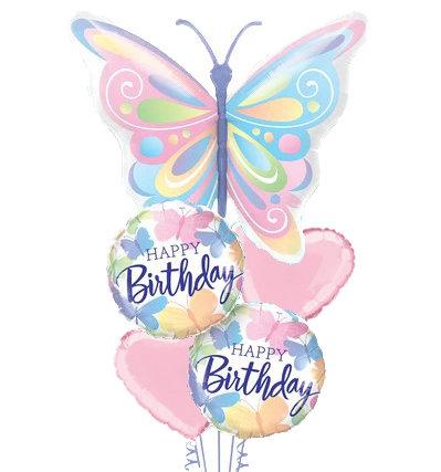 Beautiful Butterfly Helium Balloon Bouquet - bq67