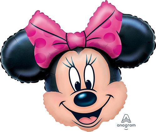 "30"" Minnie Mouse Head Helium Balloon - m06"