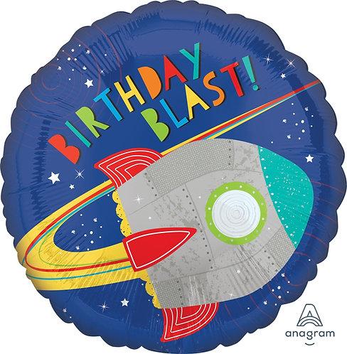 "18"" Blast Off Birthday Helium Balloon - y139"
