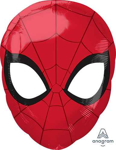 "18"" Superhero Spiderman Head Helium Balloon - s08"
