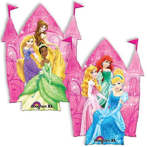 "35"" Princess Castle with 6 Princess Helium Balloon - ps12"