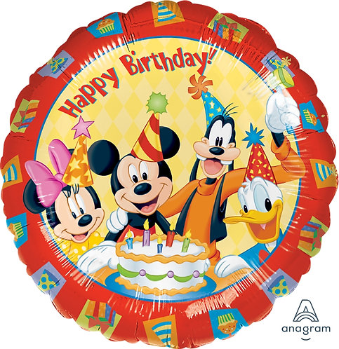 "18"" Mickey Mouse & Friends HBD Helium Balloon - m20"