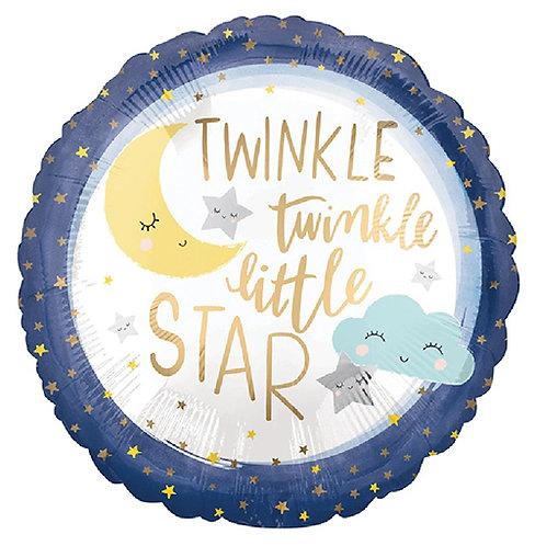 """18"""" Twinkle Little Star Helium Balloon - y143"""