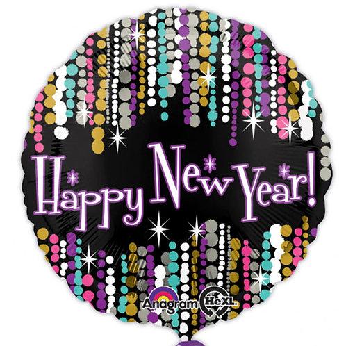 """18"""" Happy New Year Helium Balloon -ny03"""