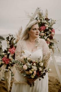Romantic Bride at the Beach