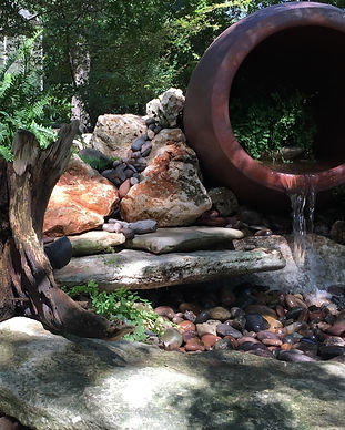 Fountain, Pondless fountain, pondless water feature, custom water feature, water feature design, pottery fountain, fountain services, fountain repair, fountain installation, fountain design, custom fountain, wellness through water, lago vist texas