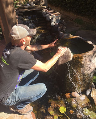 Pond Maintenance, Koi Pond Maintenance, Fountain Maintenance, Water Feature Maintenance, Pottery Fountain Cleaning