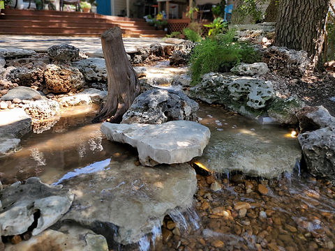 pondless waterfall, pondless water feature, pondless, disappearing waterfall, disappearing water feature, waterfall, stream, water feature, waterfall installation, waterfall construction, waterfall design, focal point features, wellness through water, water feature installation, water feature construction, driftwood texas, dripping springs texas