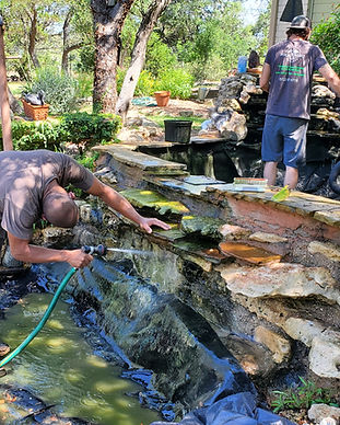 Koi Pond Cleaning, Pond Clean, Annual Pond Clean