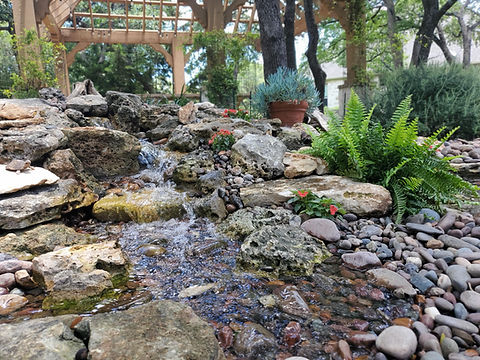 pondless waterfall, pondless water feature, pondless, disappearing waterfall, disappearing water feature, waterfall, stream, water feature, waterfall installation, waterfall construction, waterfall design, focal point features, wellness through water, double waterfall, water feature construction, water feature installation, georgetown texas
