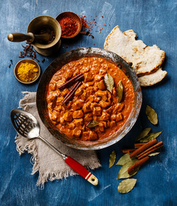 Chicken tikka masala spicy curry meat fo