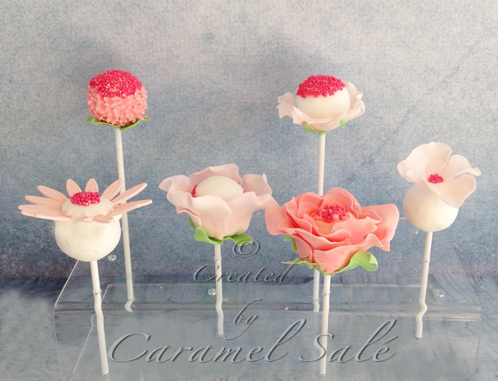 pink cakepops by Caramel Salé
