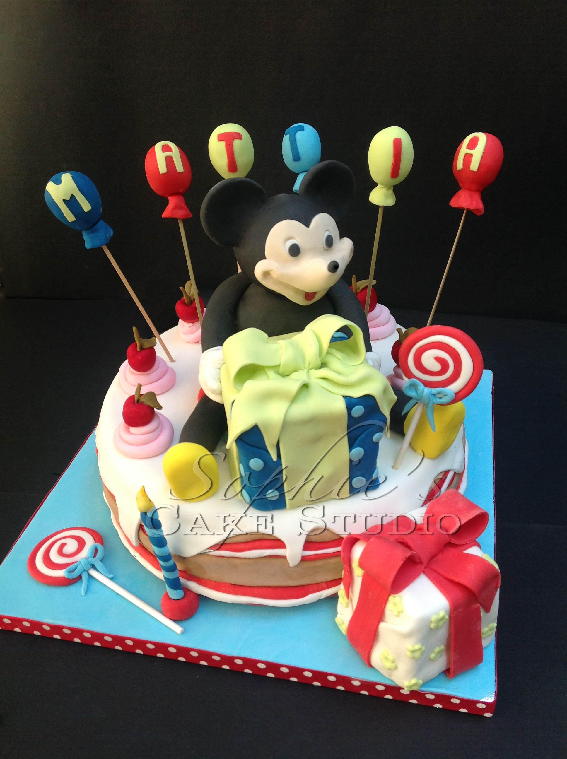 mickey cake watermark