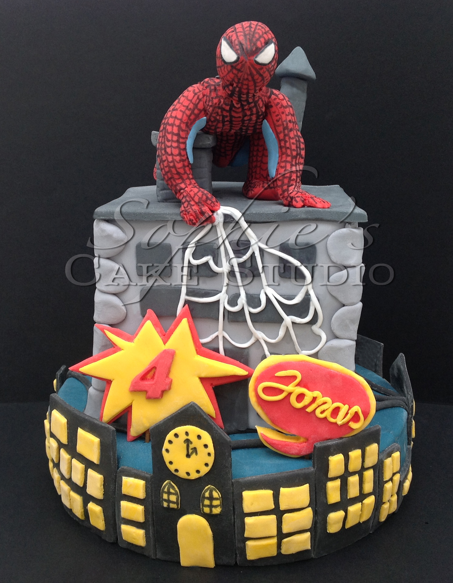 spiderman cake watermark