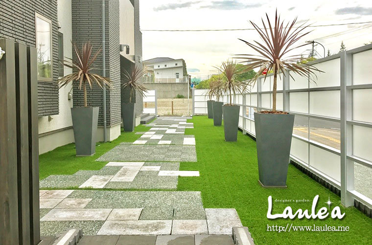 広々とした芝生のお庭 岐阜 ラウレア