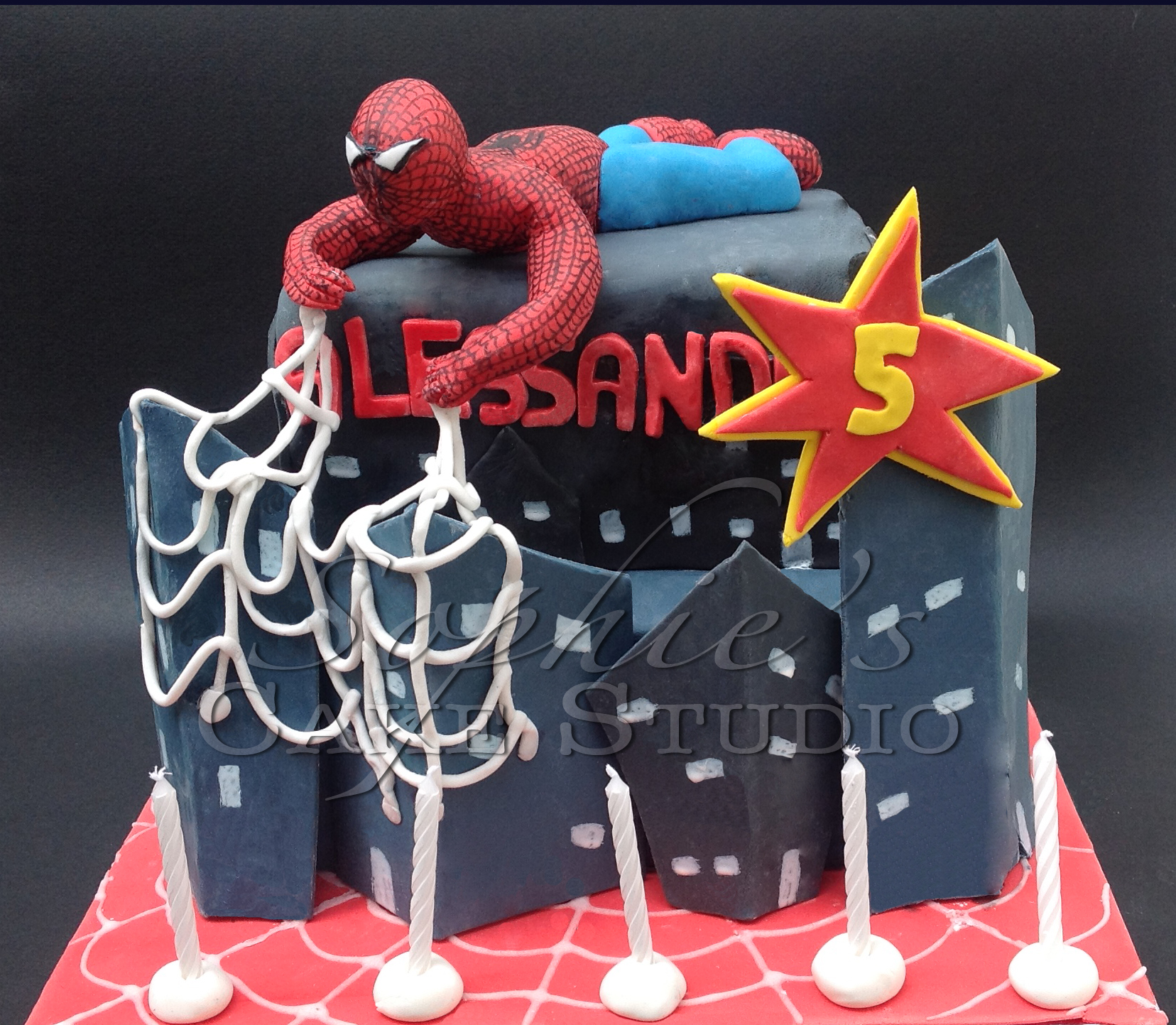 spiderman cake2watermark