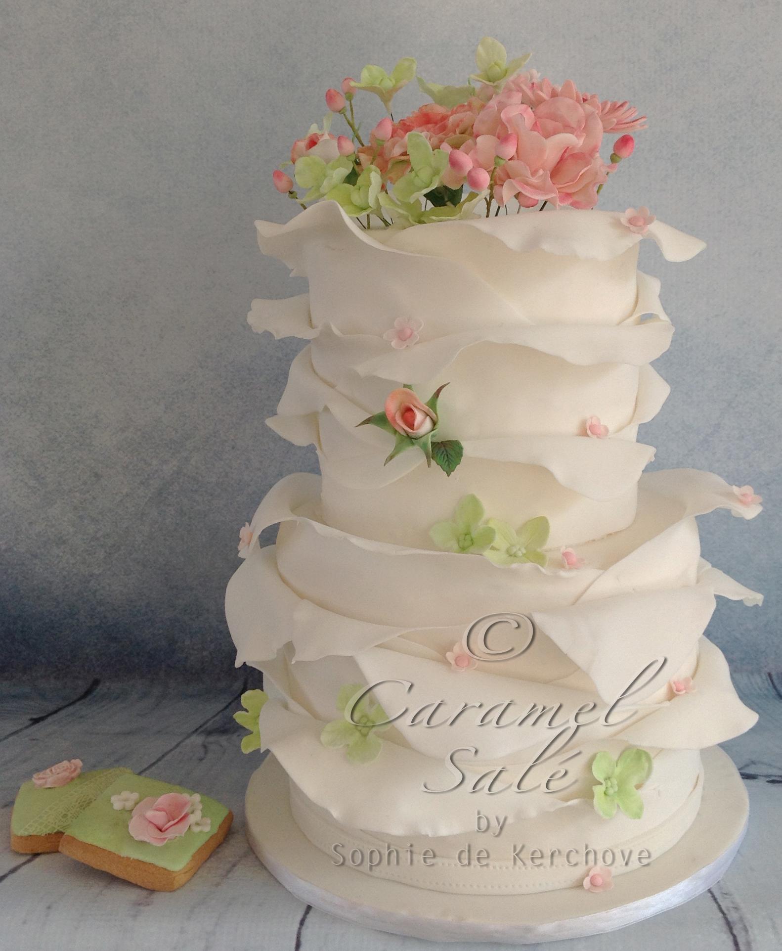spring weddingcake by Caramel Salé