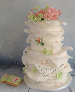 spring weddingcake by Caramel Salé