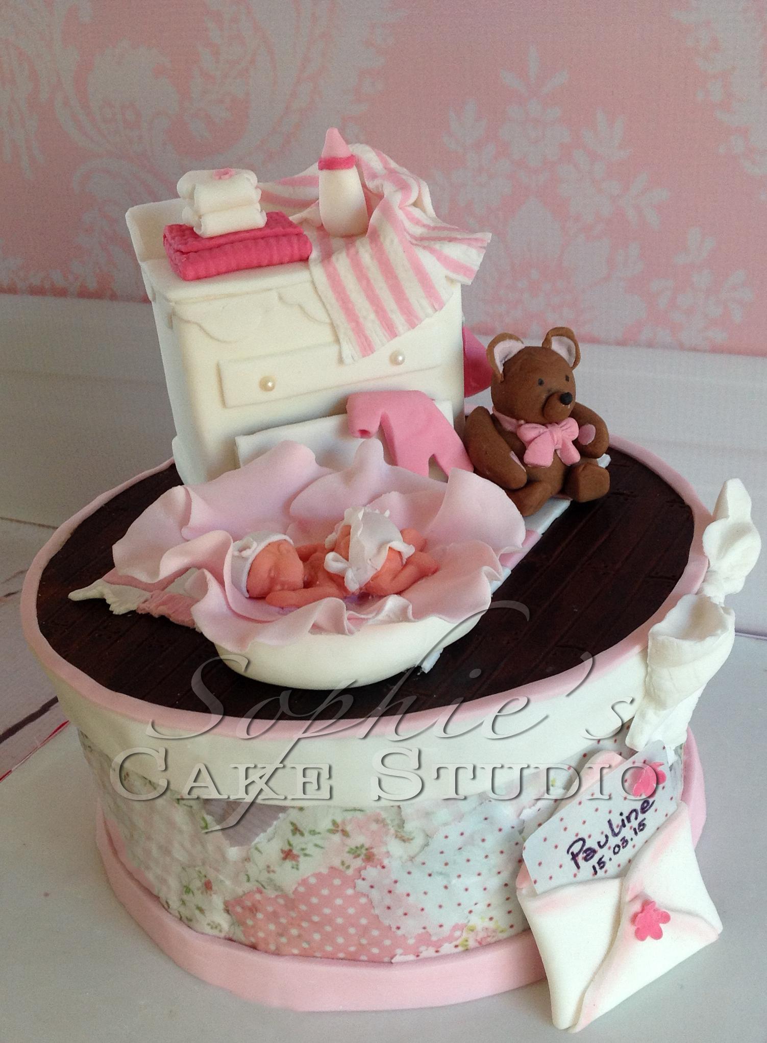 baby girl dresser cake
