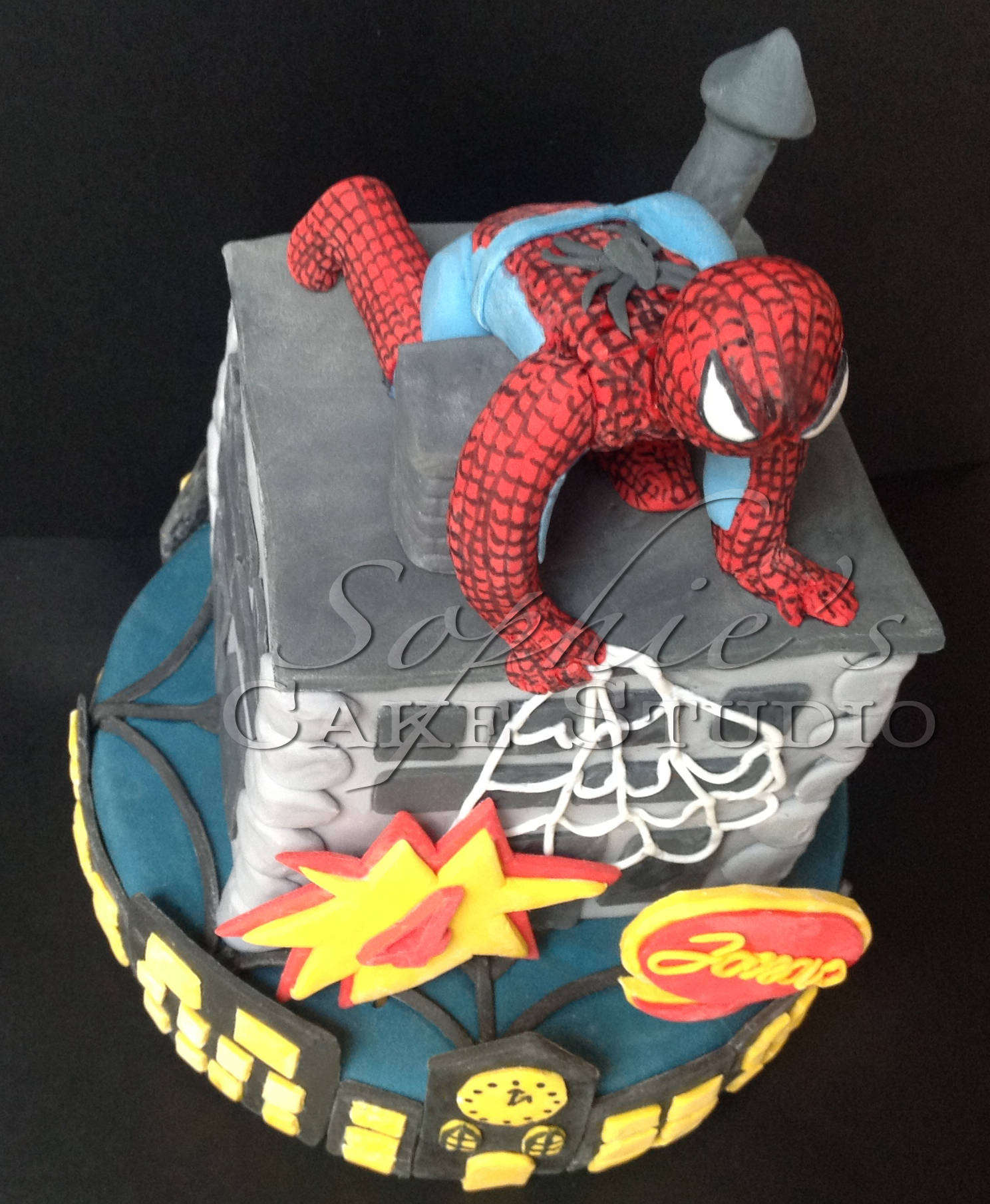 spiderman cake detail watermark