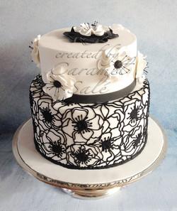 coquelicot lace cake