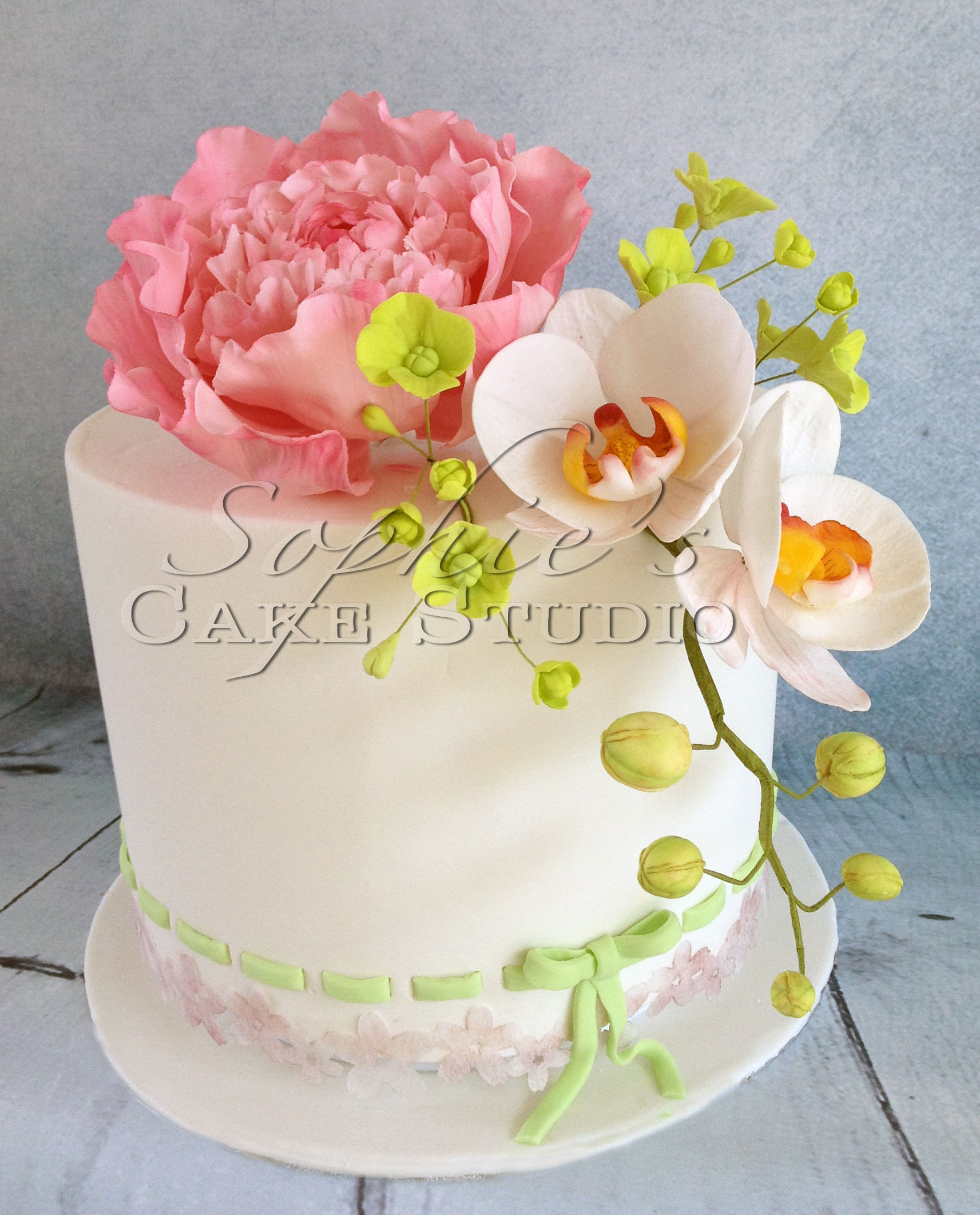 orchidee wedding cake