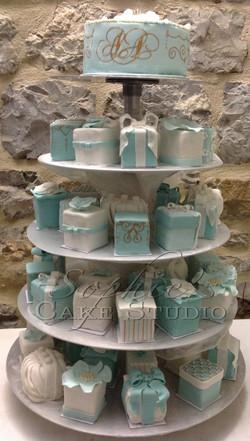 Tiffany wedding cake tower