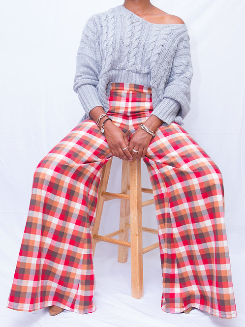 Plaids Please High Waist Pants