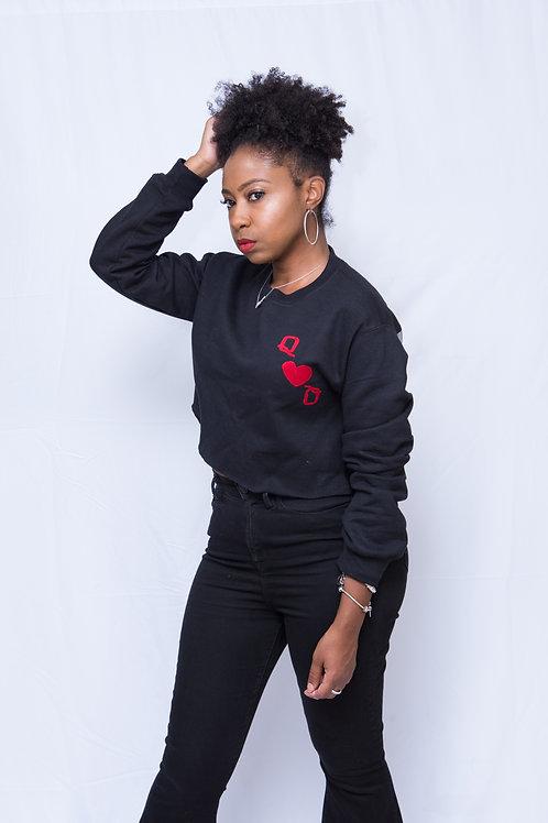 Queen in Hearts Peekaboo Sweatshirt