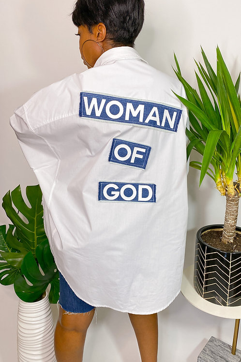Woman of God Button Down