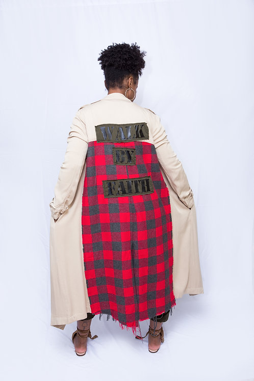 Walk By Faith Trench Jacket