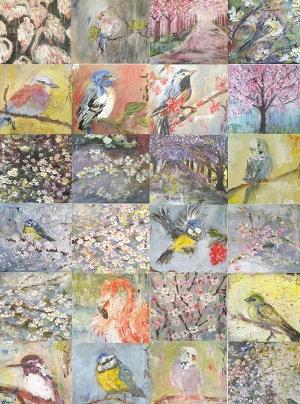 Bird & blossom card collection