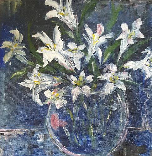 """White lilies"""