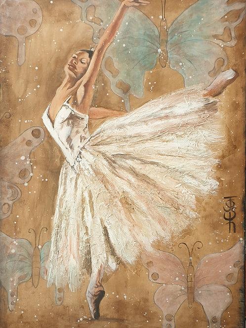 """""""Butterfly dance"""" 70 x 100cm"""