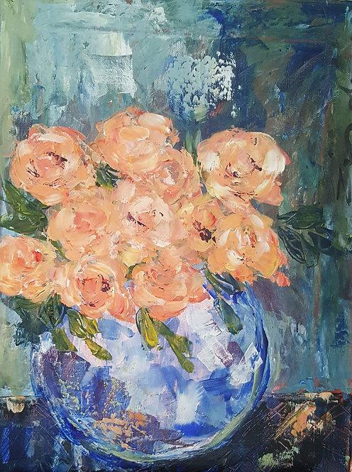 """""""Peach roses 3"""""""