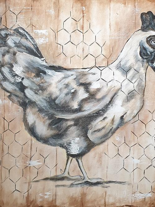 """""""Chicken 2"""" 60 x 60cm"""