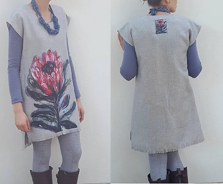 Woman Grey Protea tunik
