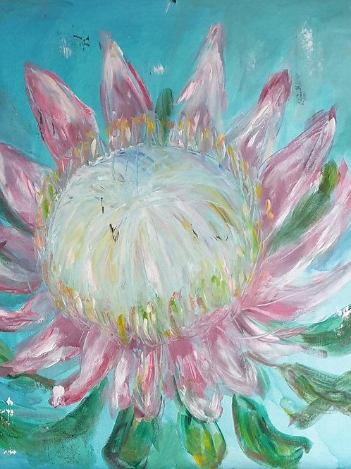 """Turquoise Protea 2"""