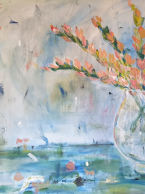 """Sword lillies"" 90 x 150cm"